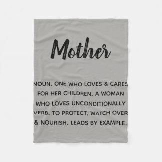 Cobertor De Velo mãe definida como