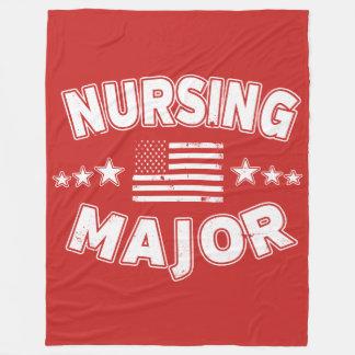 Cobertor De Velo Major bandeira americana patriótica da faculdade
