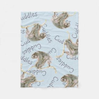 Cobertor De Velo Mamã da preguiça e afagos do bebê