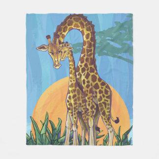Cobertor De Velo Mama e bebê do girafa