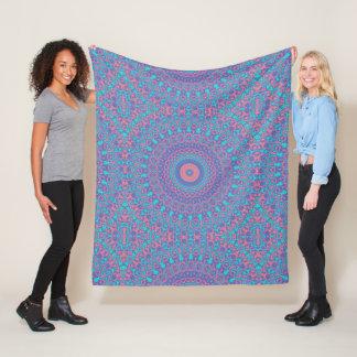 Cobertor De Velo Mandala colorida 3