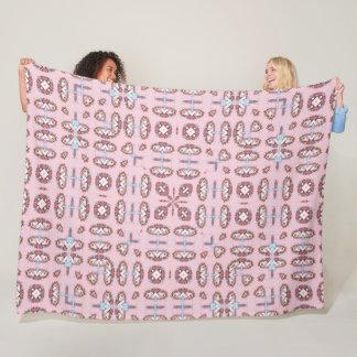 Cobertor De Velo Mandala cor-de-rosa bonito da seda do unicórnio