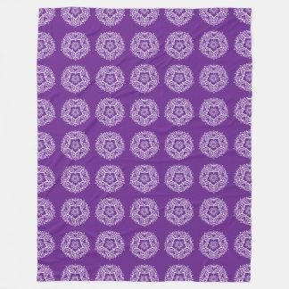 Cobertor De Velo Mandala da beringela