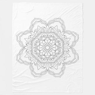 Cobertor De Velo Mandala da flor. Elementos decorativos do vintage.
