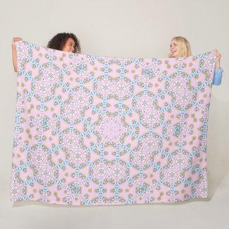 Cobertor De Velo Mandala de 8 bits bonito do gatinho do arco-íris