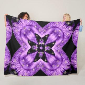 Cobertor De Velo Mandala do senhor Amethyst Cósmico Zen Flor do