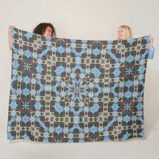 Cobertor De Velo mandala infinita de 8 bits da seda do jardim