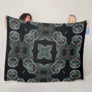 Cobertor De Velo Mandala nativa do espírito da coruja do Shaman