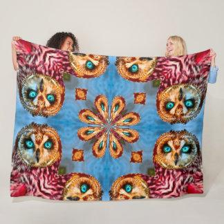 Cobertor De Velo Mandala nativa do Totem do espírito da coruja do