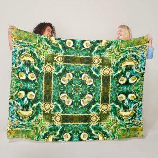 Cobertor De Velo Mandala verde urbana do Foulard do cetim da