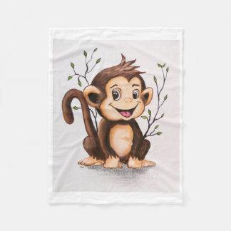 Cobertor De Velo Manny a cobertura do velo do macaco