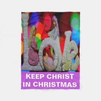 Cobertor De Velo Mantenha o Natal do cristo n com a natividade e