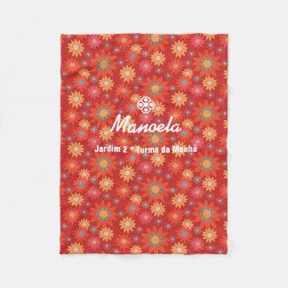 Cobertor De Velo Mantinha de Lã florida