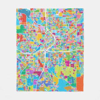 Cobertor De Velo Mapa colorido de Atlanta
