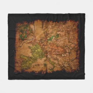 Cobertor De Velo Mapa de Velho Mundo do vintage de Europa 1740
