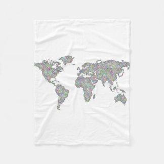 Cobertor De Velo Mapa do mundo