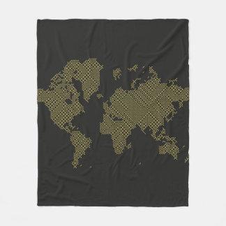 Cobertor De Velo Mapa do mundo de Digitas