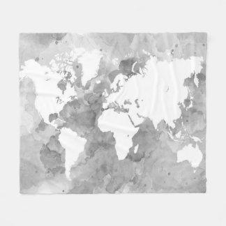 Cobertor De Velo Mapa do mundo do design 49