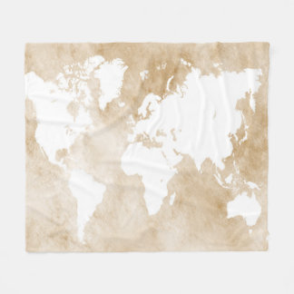 Cobertor De Velo Mapa do mundo do design 82