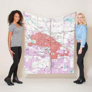 Cobertor De Velo Mapa do vintage de Fort Collins Colorado (1960)