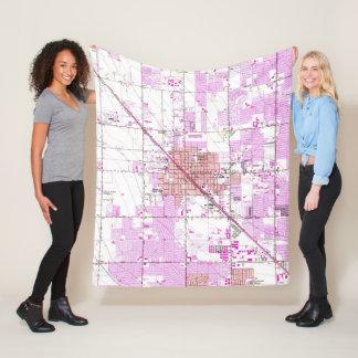 Cobertor De Velo Mapa do vintage de Glendale Arizona (1957)