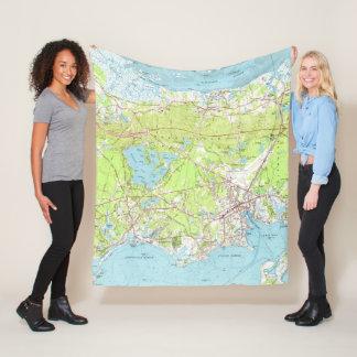 Cobertor De Velo Mapa do vintage de Hyannis Massachusetts (1961)