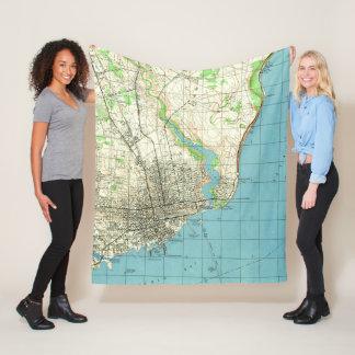 Cobertor De Velo Mapa do vintage de Pensacola Florida (1944)