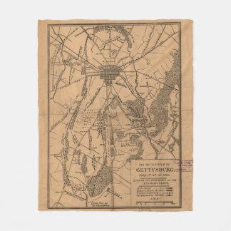 Cobertor De Velo Mapa do vintage do campo de batalha de Gettysburg
