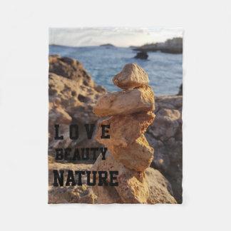 Cobertor De Velo mar do arquivo da pedra da natureza da beleza do