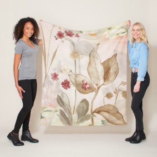 Cobertor De Velo Meio pintado mão da cobertura do velo da flor do