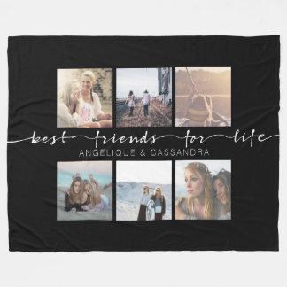 Cobertor De Velo Melhores amigos para a tipografia da foto de