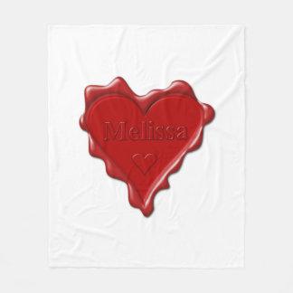 Cobertor De Velo Melissa. Selo vermelho da cera do coração com
