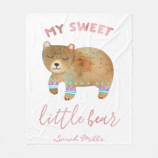 Cobertor De Velo Meu urso pequeno