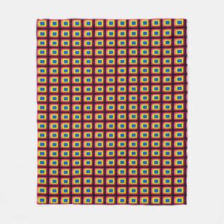 Cobertor De Velo Minimalismo retangular da forma da ilusão óptica