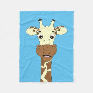 Cobertor De Velo Miúdos engraçados dos desenhos animados do girafa