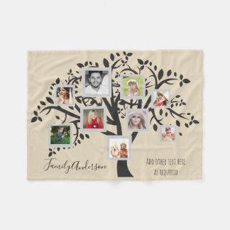 Cobertor De Velo Modelo da árvore genealógica da colagem da foto
