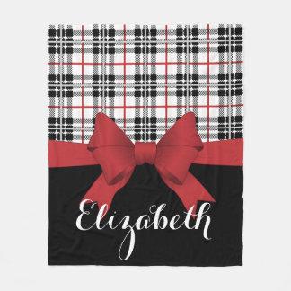 Cobertor De Velo Moderno bonito preto vermelho do teste padrão e da