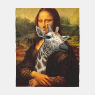 Cobertor De Velo Mona Lisa ama girafas