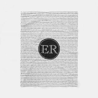 Cobertor De Velo Monograma com os pontos em preto e branco