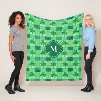 Cobertor De Velo Monograma dos retalhos do trevo