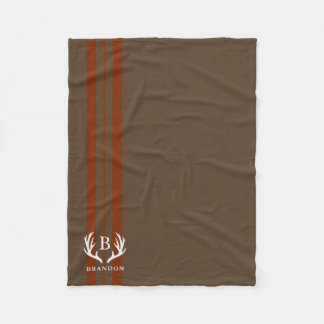 Cobertor De Velo Monograma rústico do nome | do estilo de Brown