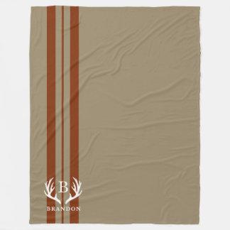 Cobertor De Velo Monograma rústico do nome | do estilo de Tan