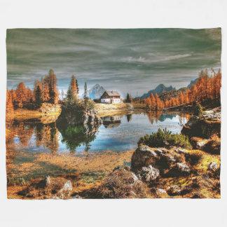 Cobertor De Velo Montanhas das dolomites, Italia