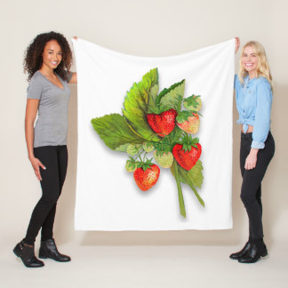 Cobertor De Velo Morangos, estilo botânico do vintage