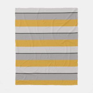 Cobertor De Velo Mostarda e Taupe quentes Multi-Listrados