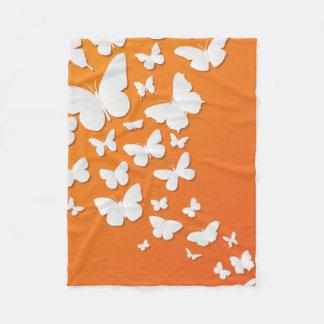 Cobertor De Velo Muitas borboletas na laranja
