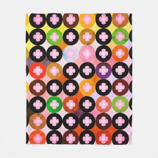 Cobertor De Velo Multi círculos coloridos legal & trevos