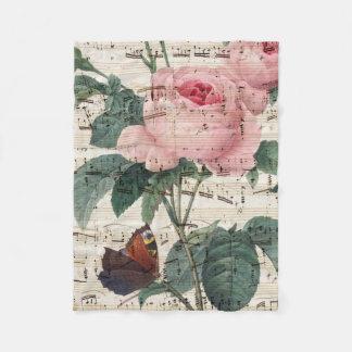 Cobertor De Velo musicc dos rosas