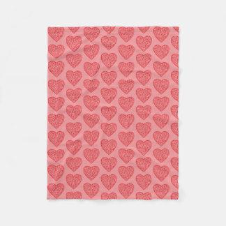 Cobertor De Velo Namorados vermelhos/amor dos corações