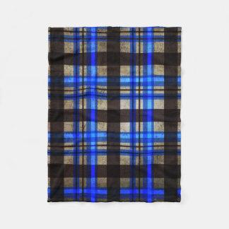Cobertor De Velo Não sua xadrez normal - azul retro urbano